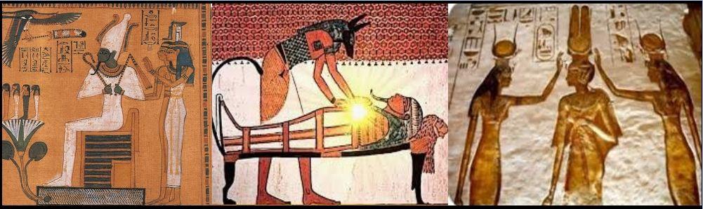 O Reiki se desenvolveu ao longo dos séculos e foi ensinado como parte das práticas espirituais nos Templos do Egito Antigo (Kemet).A prática da transferência de energia pode ser vista nas obras de arte dos antigos templos Kemeticos. Como mostrado nas figuras